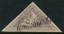 CAPE OF GOOD HOPE - 1858 QV 6d 'PALE ROSE-LILAC' VFU SG7 Cv £300 [A9468]