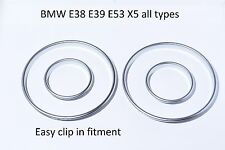 NEU BMW E38 E39 E53 X5 tachoringe satiniert silber gauge ring instrument matt M5