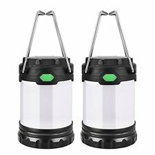 2 Pack Mini Portable LED Camping Lantern 3 Modes Lighting Dual Power Design Camp