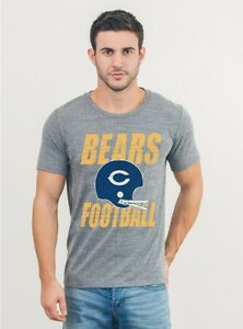 CHICAGO BEARS NFL Double Bar Football Helmet T-Shirt by Junk Food NWT 60% off!