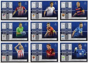 2015-16 Topps UEFA Champions League Showcase Decorated and Dignified You Pick