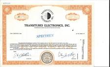 TRANSITUBES ELECTRONICS INC......