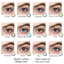 1Pair Yearly Color Contact Multicolor Cosplay Eye Makeup Cosplay Party Funny