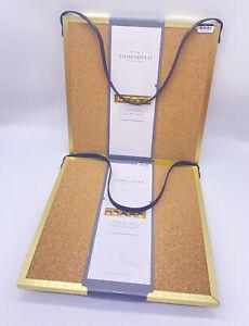 2 THRESHoLD - Cork Board / Chalkboard w/Gold 10 x 10 Frame