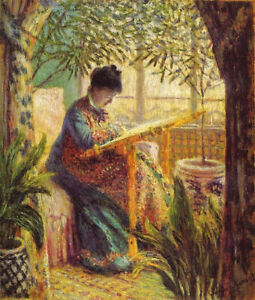 Full Drill Diamond Painting Kit Camille Embroidering Claude Monet 1875 Painting