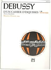 """Debussy """"D'Un Cahier D'Esquisses"""" L.99 For The Piano-Alfred Masterwork-Brand New"""
