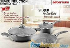 Batteria pentole 5 pezzi silver induction 0099 aeternum   bialetti