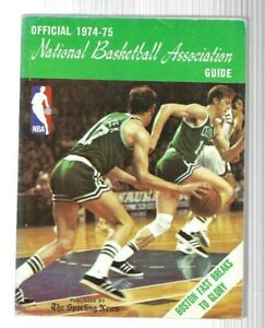 1974-75 The Sporting News NBA Guide---Havlicek and Cowens   VG