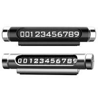 Luminous Rotatable Car Temporary Parking Card Phone Number Notification Plate