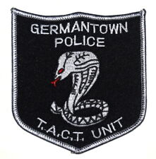 GERMANTOWN – SWAT - TENNESSEE TN Sheriff Police Patch SUBDUED VINTAGE OLD MESH ~