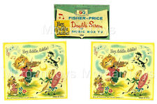 FISHER-PRICE REPLACEMENT LITHOS for Hey Diddle MUSIC BOX DOUBLE SCREEN TV #196