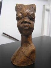 Africa Bust woman / african wood sculpture / wooden art statue skulptur Afrika