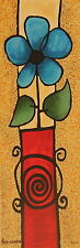 """A. Ben Simhon Serigraph on Paper """"Red Vase"""""""