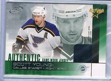 2002-03 SCOTT YOUNG PACIFIC ATOMIC JERSEY INSERT #5 BLUES