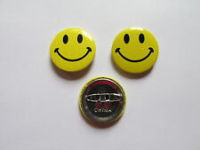 48 SMILEY FACE PINS smile face party favors FREE SHIP lapel pin button