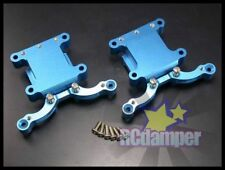 ALLOY GEAR BOX GEARBOX SHOCK MOUNT BLUE TAMIYA TT01D TT-01D FRONT & REAR