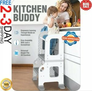 Learning Tower Kitchen Helper Kids Step Stool Kitchen Buddy 2in1 for Ages 1-3