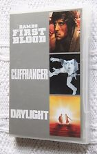 FIRST BLOOD/CLIFFHANGER / DAYLIGHT (DVD, 3-DISC) R-ALL, LIKE NEW, FREE SHIPPING