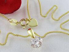 Markenlose Zirkon Echtschmuck-Halsketten
