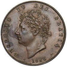 More details for 1826 halfpenny - george iv british copper coin - v nice