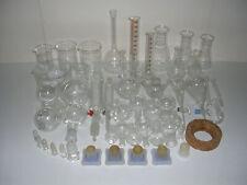 Labor Glas Konvolut 3-Hals Kolben Scheidetrichter Tropftrichter Meßzylinder groß