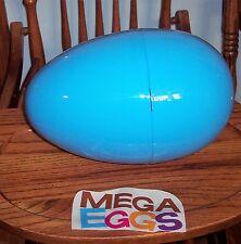 "Jumbo Mega 12"" BLUE Plastic Surprise Prize Easter Egg NWOT MOLD DEFECT"