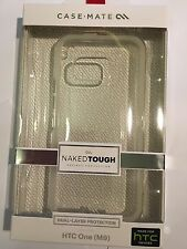HTC ONE M9 CASE-MATE NAKED TOUGH Protector Case in Clear CM032367 Brand New pack