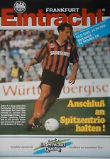 Programm 1992/93 SG Eintracht Frankfurt - FC Schalke 04