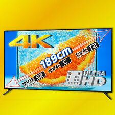 """1,89m UHD Bildschirmdiagonale!!! 75"""" UHD 4k LED TV Gerät, DVBS2, DVBT2, DVBC"""