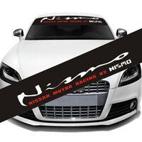 NISMO Front Windshield Banner Decal Vinyl Car Sticker Auto Window Exterior Deco