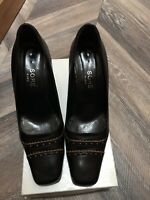 Leather Bag And Shoes Black Euro Size 40