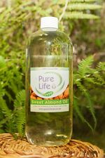 Sweet Almond Oil Natural Massage Carrier Oil Cold Pressed 100% Pure 2000ml