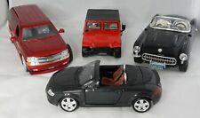 Lot of 4 Diecast 1:24 1:27 Burago Maisto Jada Cars - Hummer Corvette Suburban TT
