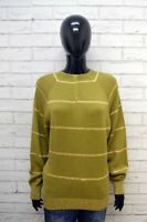 Pullover Donna XL Maglia Maglione Maglia Cardigan Sweater Women Vintage A Righe