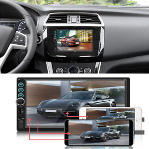 "2 Din Car Radio Audio Stereo MP5 Player 7"" Bluetooth Touch Screen Mirror Link"