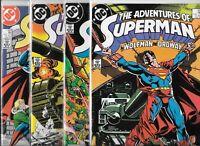 Adventures of Superman #425, #426, #427 & #429   Lot of 4 (1987, DC Comics)