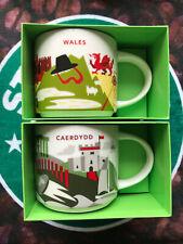 2 starbucks you are here yah 14fl oz mugs - 1 Caerdydd/Cardiff & 1 Wales