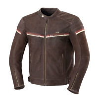 iXS Flagstaff Vintage Leather Motorcycle Jacket With Armor Brown Men's