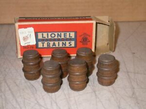 Postwar Lionel O 362-78 Separate Sale Box Of Original Barrels O Scale 362
