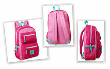 "TRAILMAKER #6743 Backpack 18"" Double Zippper Pocket Padded Adjustable Strap Pink"