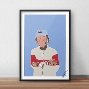 Lil Skies INSPIRED WALL ART Print / Poster Minimal A4 A3 rap rapper dark rose