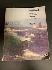 Vtg 1978 Portland Lake Oswego Milwaukie Oregon Bell Yellow Pages Phone Book