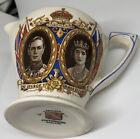 Vintage Coronation Creamer Jug Staffordshire King George VI & Elizabeth 1939
