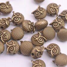 Wholesale Antique Tibetan Silver Owl Charm Spacer Beads for Bracelet 5-100Pcs