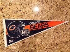 Vintage Chicago Bears Football PENNANT NFL Flag Helmut with Unique 2 bars? BEAR