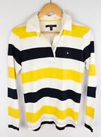 Gant Women Rugby Shirt Polo Neck Striped Cotton size M