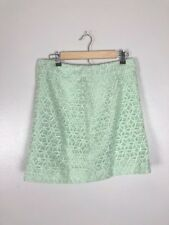 Ann Taylor LOFT Mint Green Embroidered Floral Short Skirt, Size 6, NWT