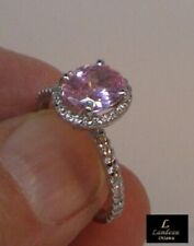 2.40 ct Pink Diamond Promise Silver Ring