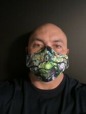 Hulk Men's super hero face mask adult