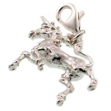 Sterling 925 British Silver Unicorn Charm Lobster Cip On Fit by Welded Bliss